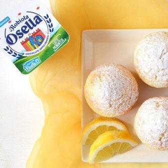 Muffins al limone e Robiola Osella