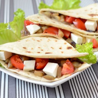 Piadina with aubergines and Linea Osella