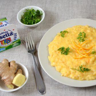 Risotto alla crema di carote, arancia e zenzero