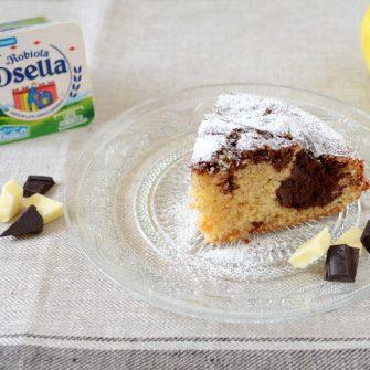 Robiola and chocolate cake