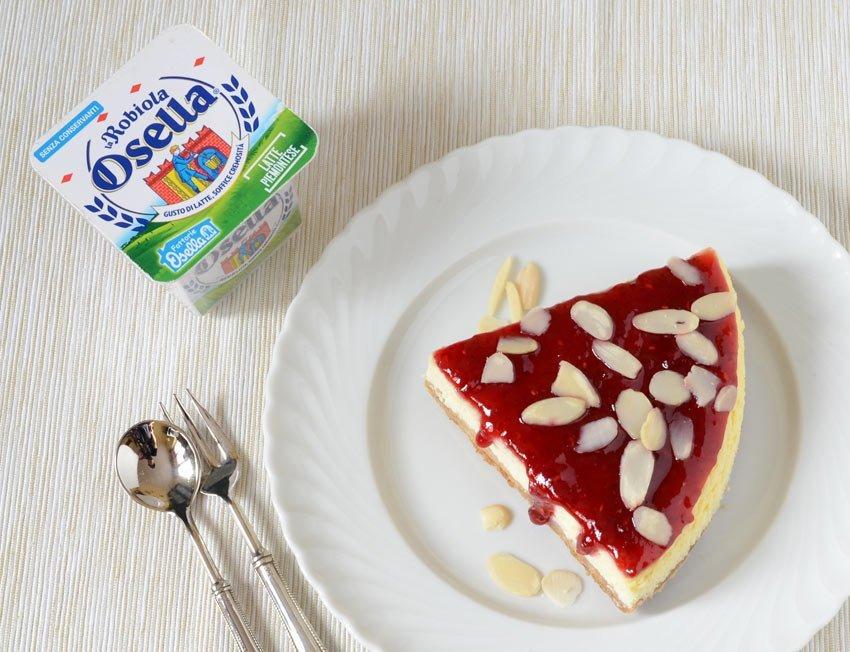 Cheesecake con Robiola e Ricotta Osella - Ricette Fattorie Osella