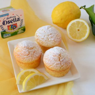 Lemon muffins and Robiola Osella