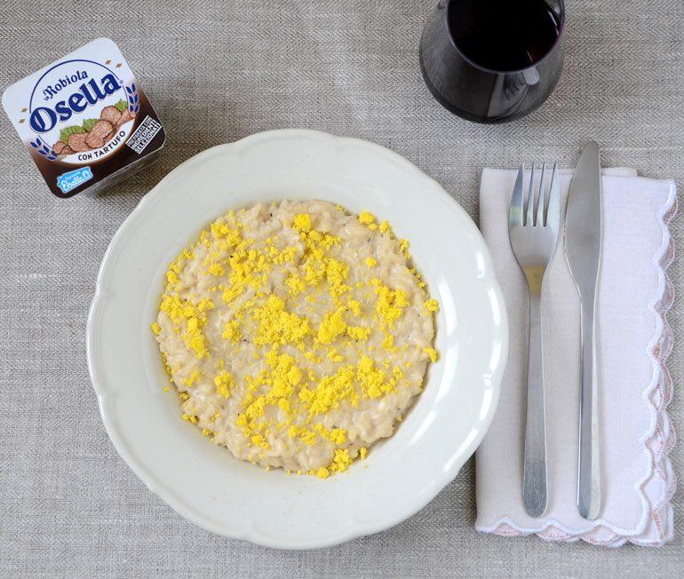 Risotto mimosa con Robiola al Tartufo - Ricette Fattorie Osella