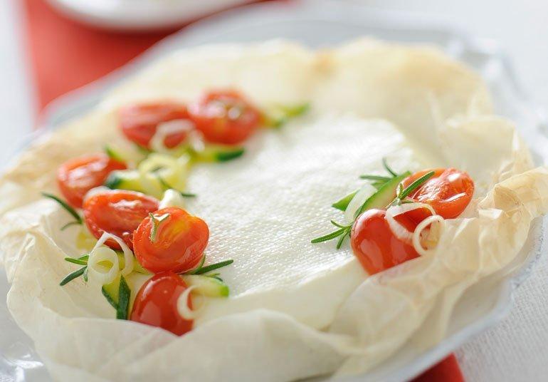 Linea al cartoccio con verdure fragranti
