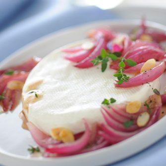 Linea with glazed Tropea onions