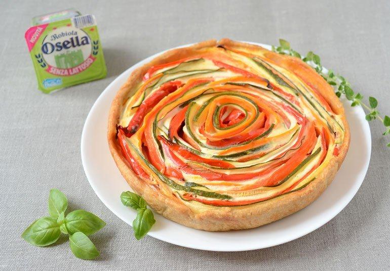 Torta salata di verdure con Robiola Osella senza lattosio