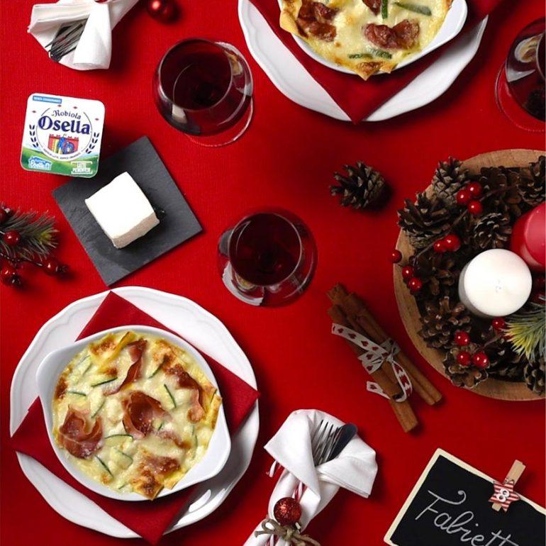 Lasagne con Robiola Osella speck e zucchine