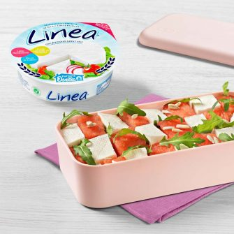 Linea Osella with cubes of watermelon and rocket