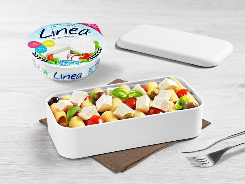 Linea osella con maccheroncini, datterini e olive