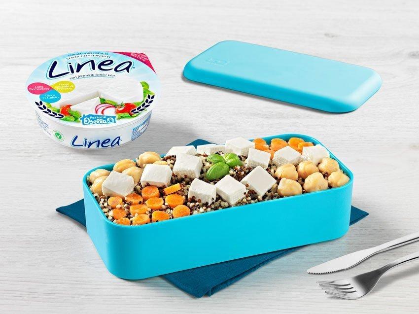 Quinoa tricolore con linea osella, carotine e ceci